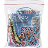 """Alliance Rubber 07800 Non-Latex Brites File Bands, Colored Elastic Bands, 50 Pack (7"""" x 1/8"""", Assorted Bright Colors in Resea"""
