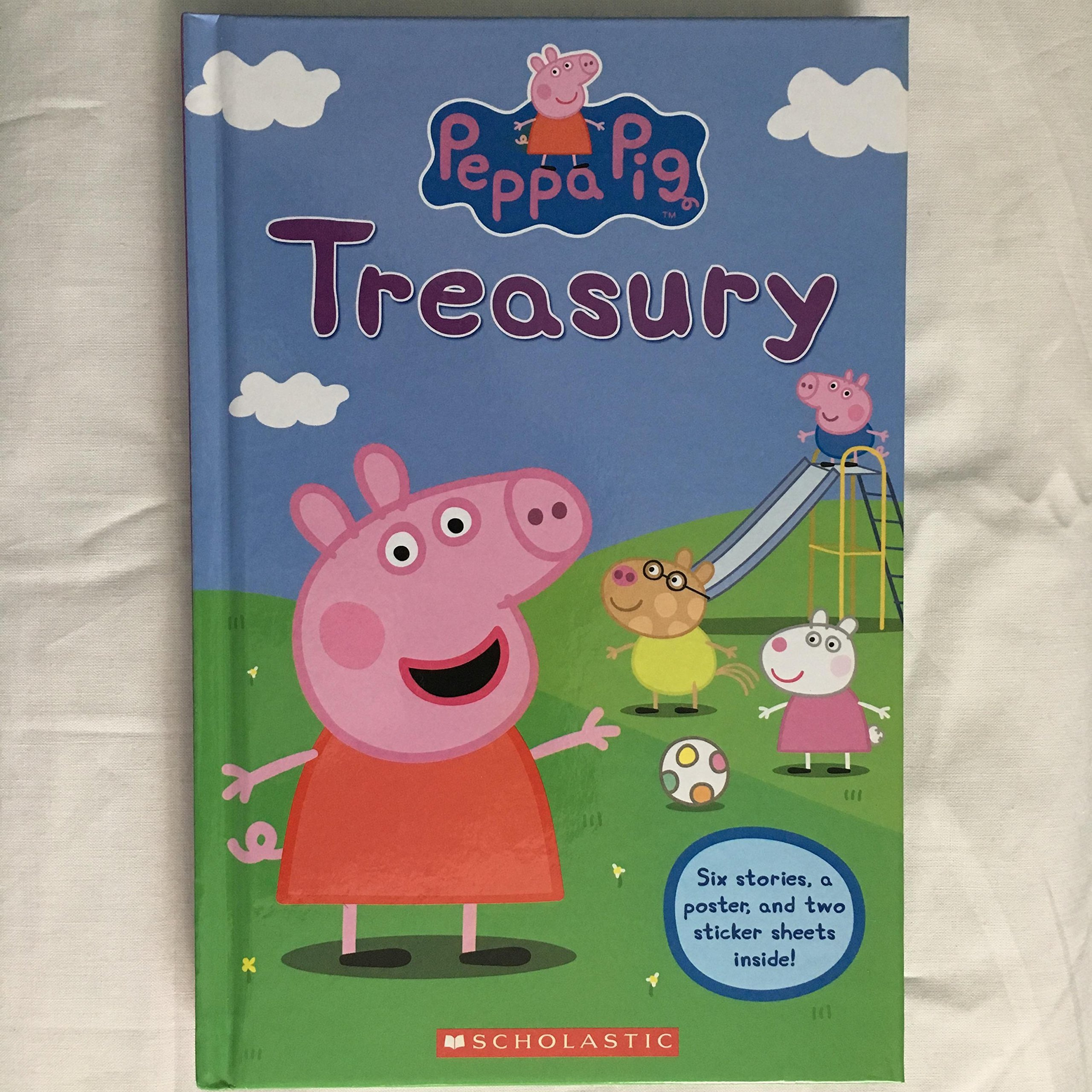 Peppa Pig Treasury Book 6 Stories Plus A Poster And 25 Stickers