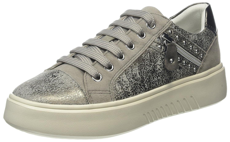 Geox D Nhenbus F, Zapatillas para Mujer 41 EU|Gris (Taupe/Lt Grey)