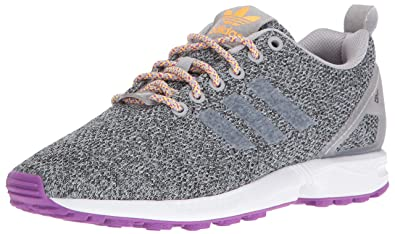 e9a750383f5cd adidas Originals Women s zx Flux w Running Shoe MGH LGH Solid Grey Neon  Orange