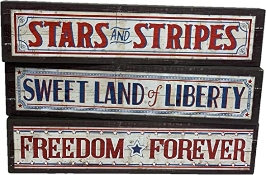 "Patriotic Stars /& Stripes Country Pride Boot Planter 10/""H Ceramic"