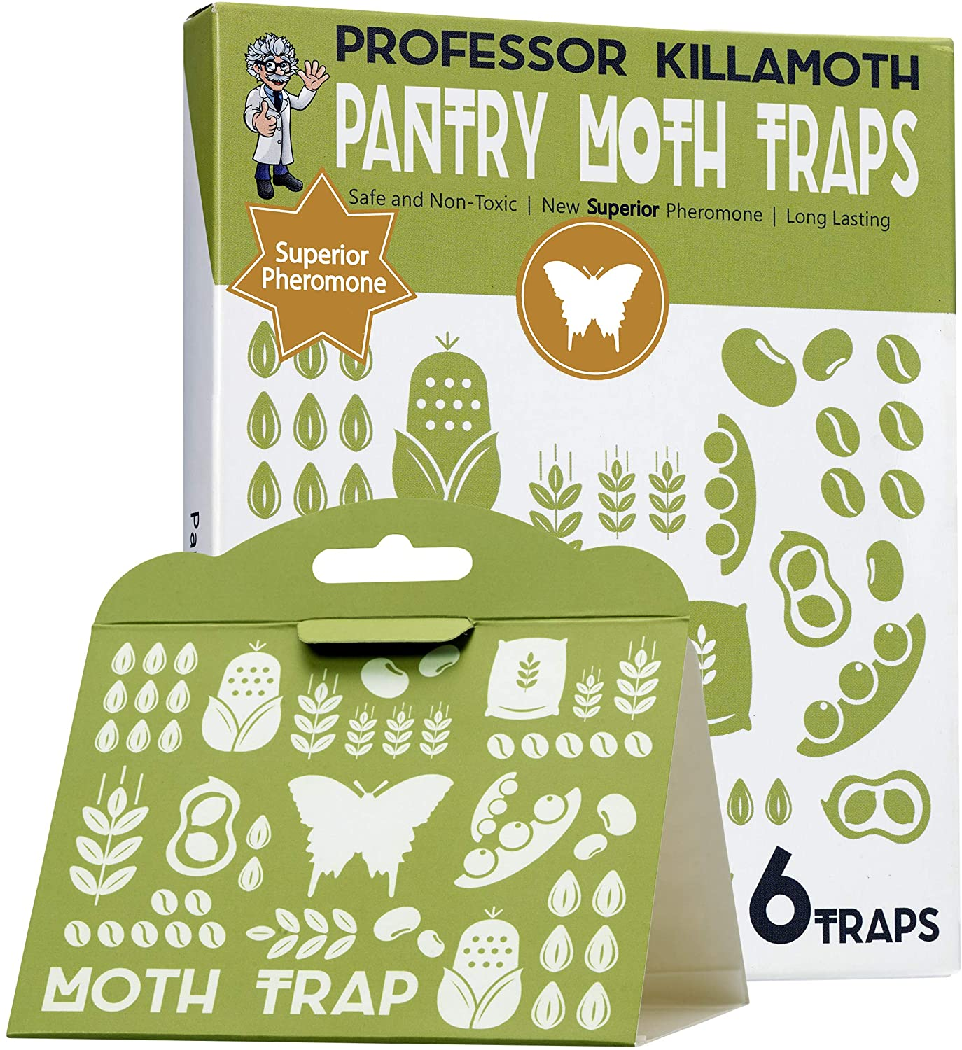 Pantry Moth Traps 6 Pack | No Insecticides | Child and Pet Safe | Superior Attractant