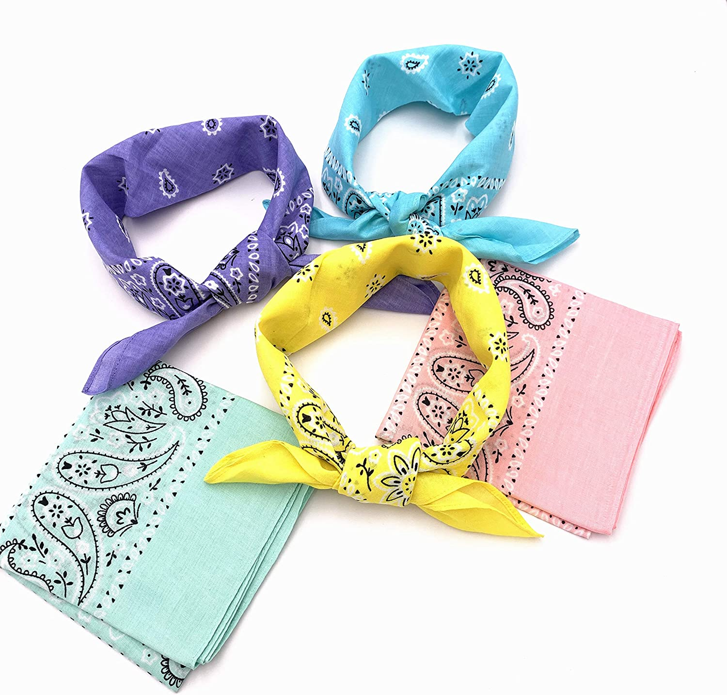 T/&Z 100/% Cotton 10 Pack Fine Bandanas Professional Factory Manufactured