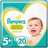 Pampers Premium Protection Windeln, Gr. 5+ Junior Plus (12-17 kg), 1er Pack (1 x 20 Stück)