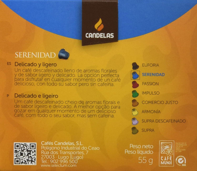 Cafés Candelas Café Serenidad Selectum - 10 cápsulas: Amazon.es: Alimentación y bebidas