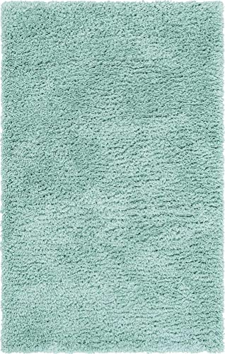 Infinity Collection Solid Shag Area Rug by Rugs.com Cyan 9 x 12 High-Pile Plush Shag Rug Perfect for Living Rooms, Bedrooms, Dining Rooms and More