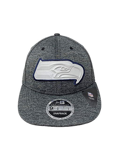 9b4f8ae7 Amazon.com : New Era New England Seattle Seahawks Grey Beveled ...