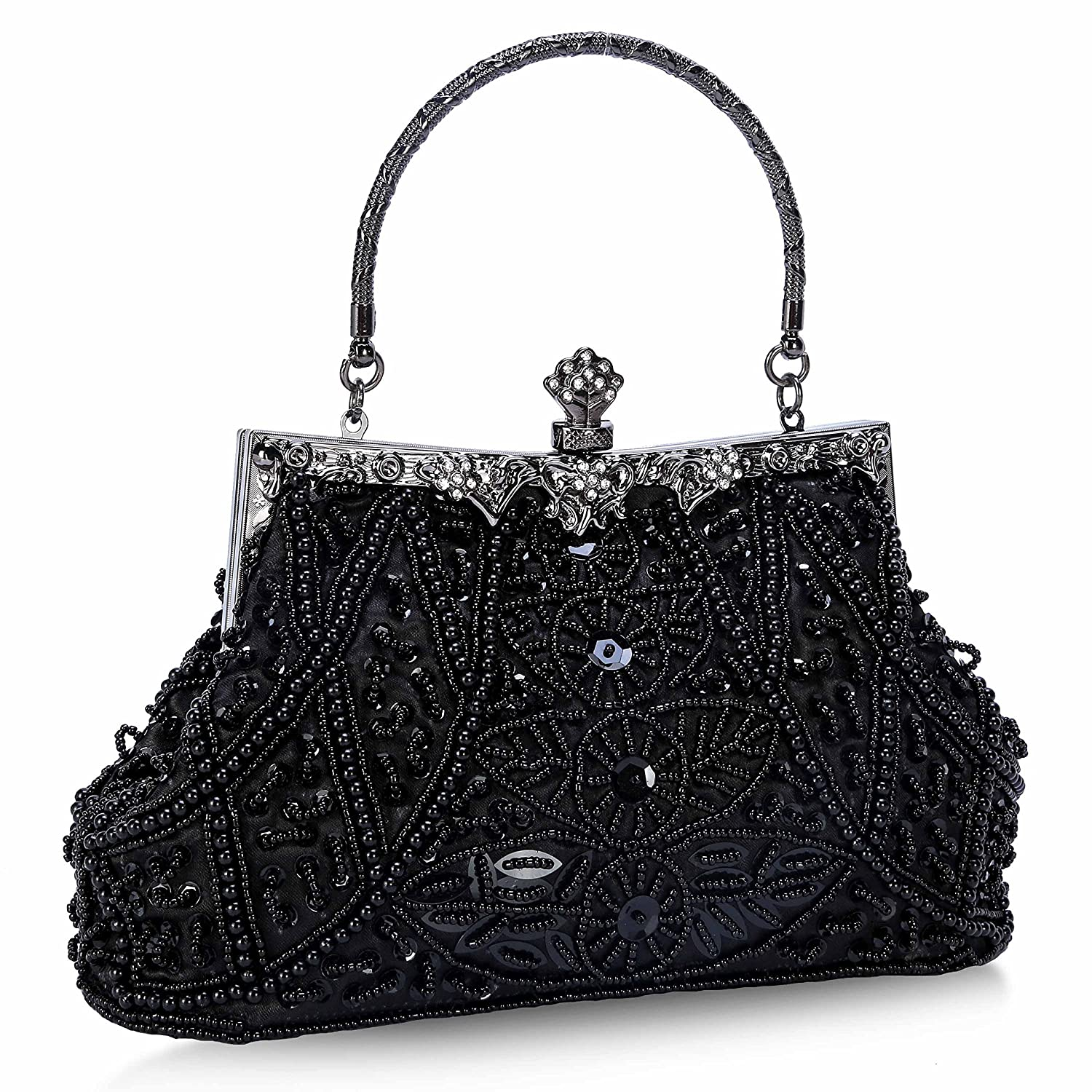 Vintage & Retro Handbags, Purses, Wallets, Bags Chichitop Womens Bead Sequined Vintage Evening Bag Wedding Party Handbag Clutch Purse $24.99 AT vintagedancer.com