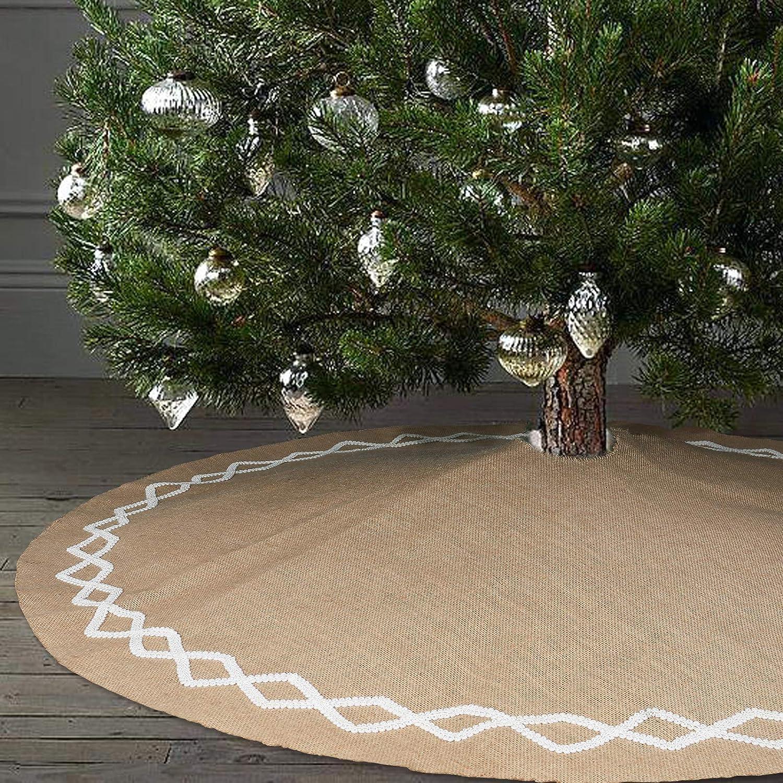 Amazon Ivenf 48 inch Natural Burlap Jute Plain Christmas