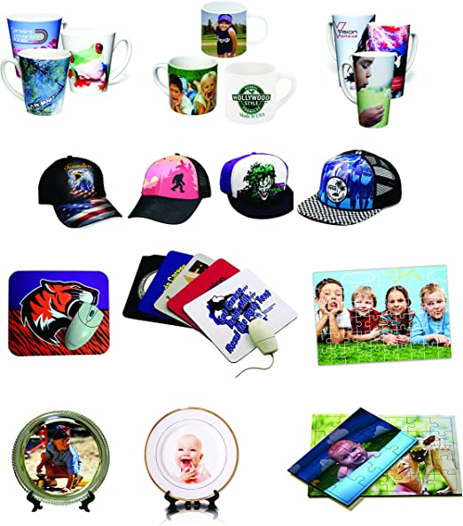 5in1 15x15 Professional Sublimation Heat Press WF-7710 11x17 Printer CISS Ink Material KIT 7720