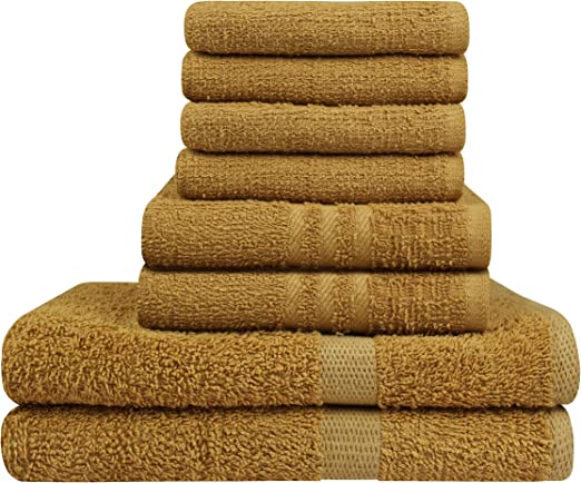 2 Pack Beige// Light Brown Egyptian Cotton Bath towel 25x50 Inches  400 GSM
