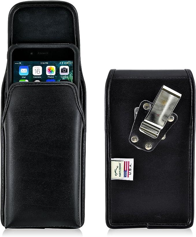 Turtleback Gürteltasche Für Apple Iphone 6s Plus Mit Otterbox Commuter Schwarz Vertikal Holster Ledertasche Mit Heavy Duty Dreh Ratschen Gürtelclip Made In Usa Elektronik