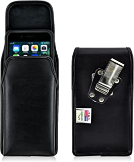 product image for Turtleback Belt Case Compatible with Apple iPhone 8 Plus & iPhone 7 Plus w/OB Commuter case Black Vertical Holster Leather Pouch with Heavy Duty Rotating Ratcheting Belt Clip Made in USA