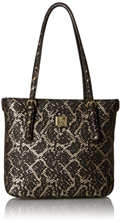 Anne Klein Perfect Tote Small Shopper, Black/Gold