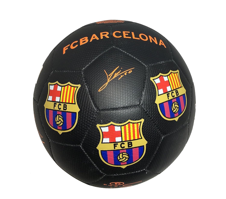 Balón Pelota de fútbol FCB Barcelona con Firmas Jugadores Negro ...
