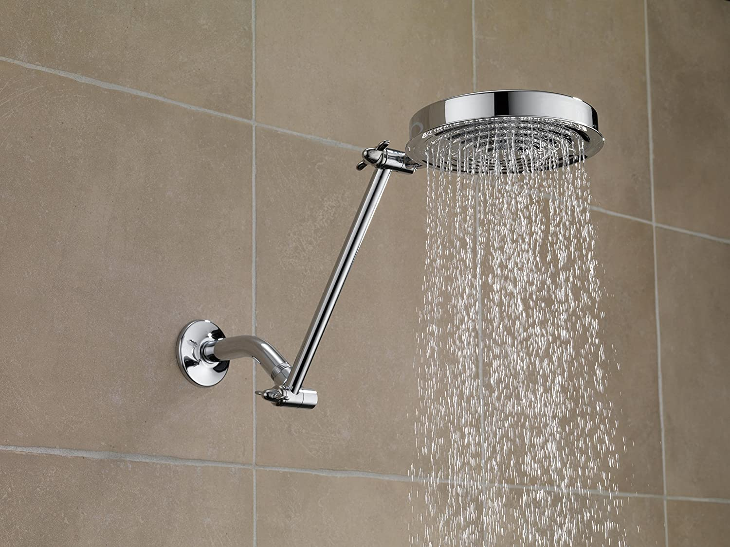 Delta 52687-PK Adjustable Arm Raincan Showerhead, Chrome - Fixed ...