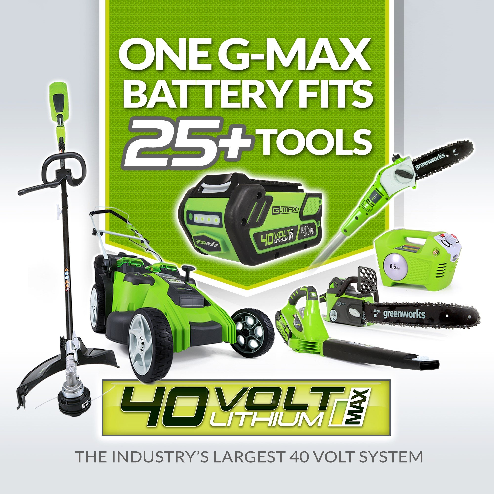 Greenworks 40V 185 MPH Variable Speed Cordless Blower Vacuum, 4.0 AH Battery Included 24322 by Greenworks (Image #2)