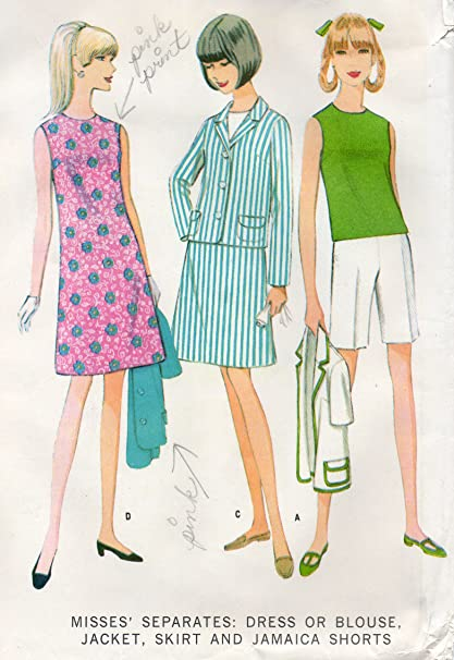 Amazon.com: McCall\'s vintage sewing pattern 8782 wardrobe - Size 16 ...