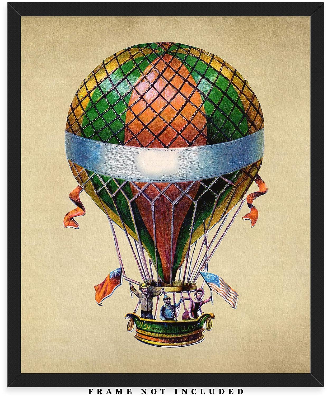 Amazon.com: Vintage Hot Air Balloon Wall Art Print: Unique ...