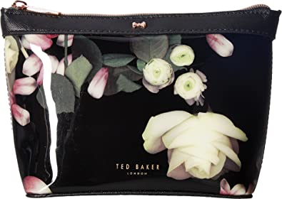 5d7fc6d0bd6 Ted Baker Zaire Kensington Floral Patent Cosmetic Bag - SMALL, BLACK ...