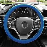 FH Group FH3003DARKBLUE Dark Blue Steering Wheel Cover (Silicone W. Grip & Pattern Massaging grip Dark Blue Color-Fit Most Car Truck Suv or Van)