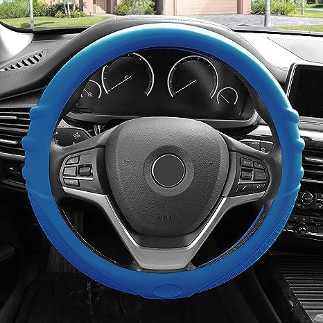 Amazon Com Fh Group Fh3003darkblue Dark Blue Steering Wheel Cover