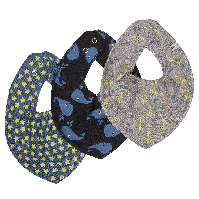 Pippi Baby-Boys Printed Bib (Pack of 3) Vallarta Blue One Size 3814
