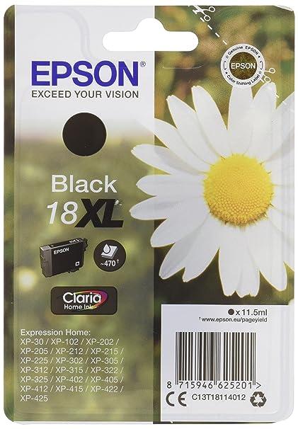 Epson C13T18114012 - Cartucho de tinta original, negro, Ya ...
