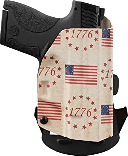 product image for We The People Holsters - Betsy Ross Flag - Outside Waistband Concealed Carry - OWB Kydex Holster - Adjustable Ride/Cant/Retention