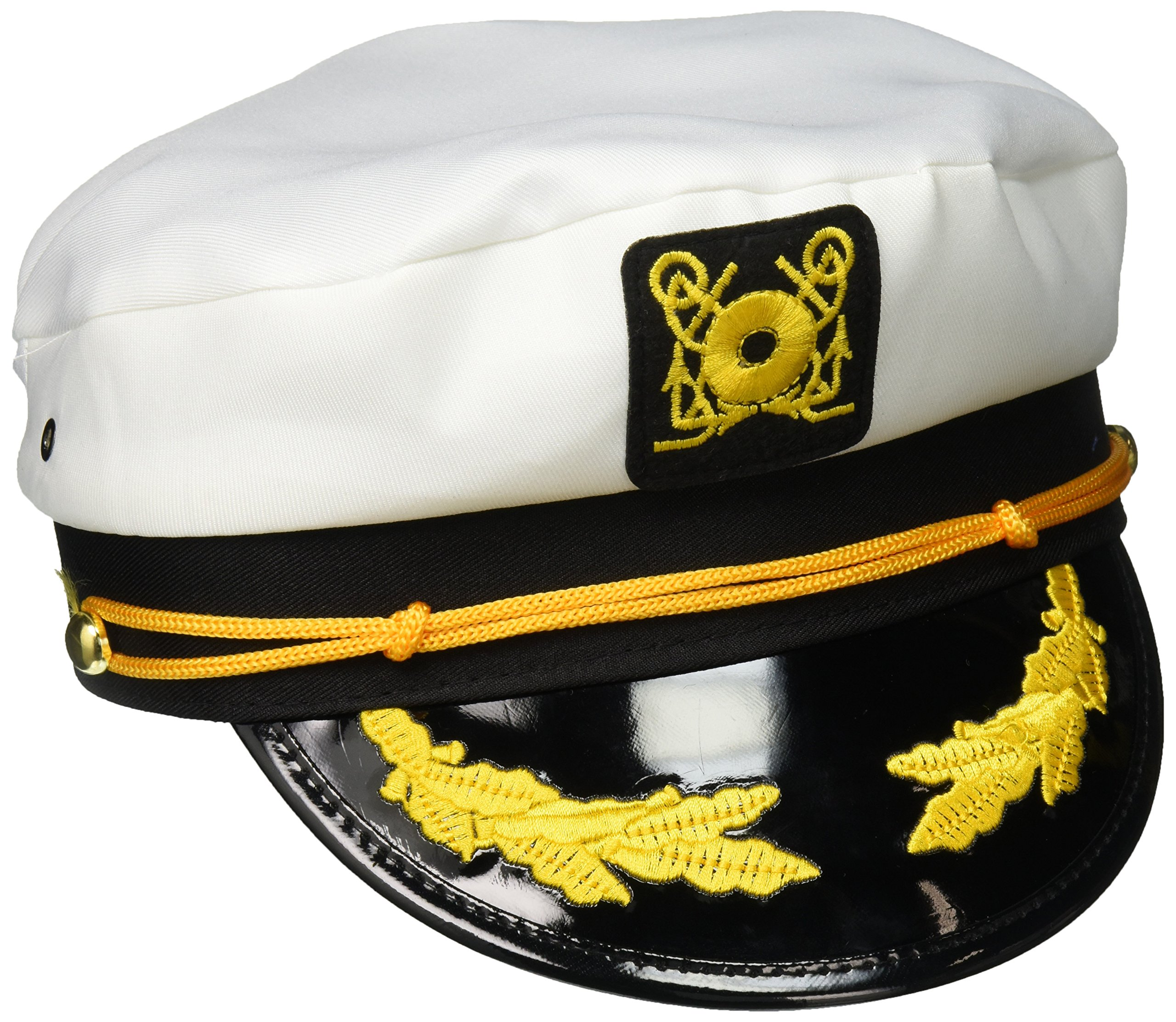5dace157ef8 Sailor Ship Yacht Boat Captain Hat Navy Marines Admiral White Gold Cap 2  Pack product image