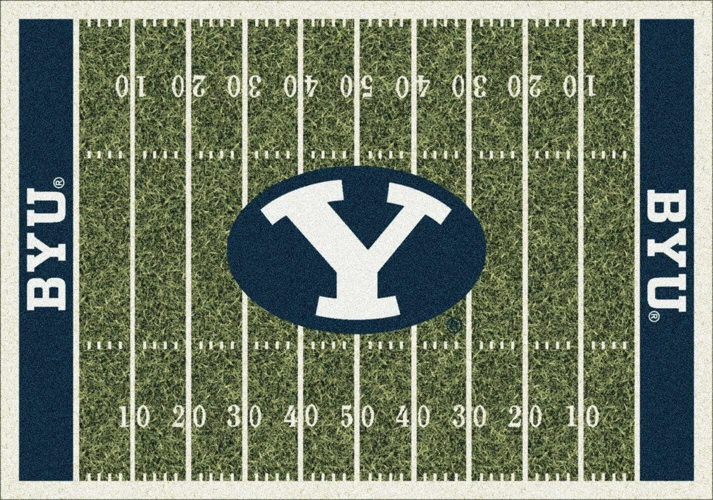 Brigham Young BYU Cougars 7 8 x 10 9 NCAA Home Field Area Rug