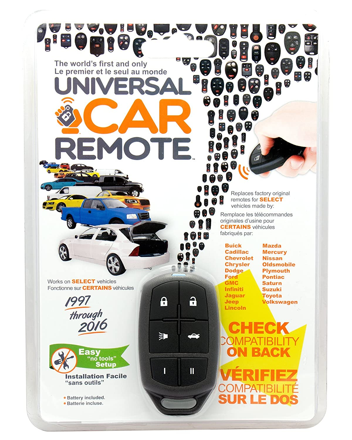 Replacement Keyless Entry Universal Car Remote Control Key Clicker Alarm For Nissan Infiniti Kbrastu15 Fits By Ikeyless Fob Chevy Dodge Ford Toyota And More