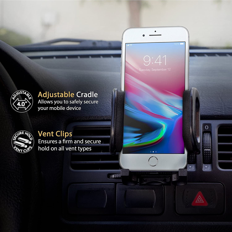 SCOSCHE HVM2-R VentMount Universal Vent Smartphone//GPS Mount for the Car Renewed