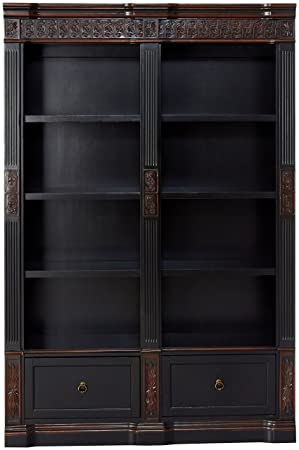 Rowan Carved Combination Bookcases Chestnut