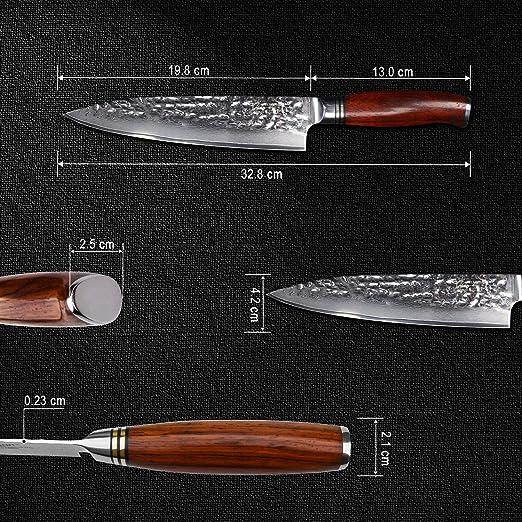 Compra YARENH Cuchillos de Cocina Profesionales de 20 cm ...