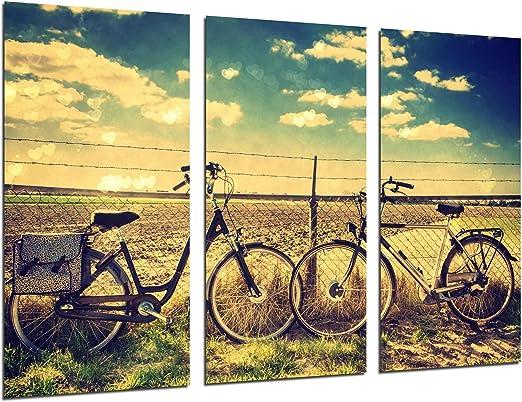 Cuadro Fotográfico Paisaje Bicicletas Vintage Tamaño total: 97 x ...