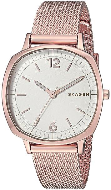 Skagen Rungsted cuarzo acero inoxidable Casual Reloj de las mujeres, tonos de oro Color