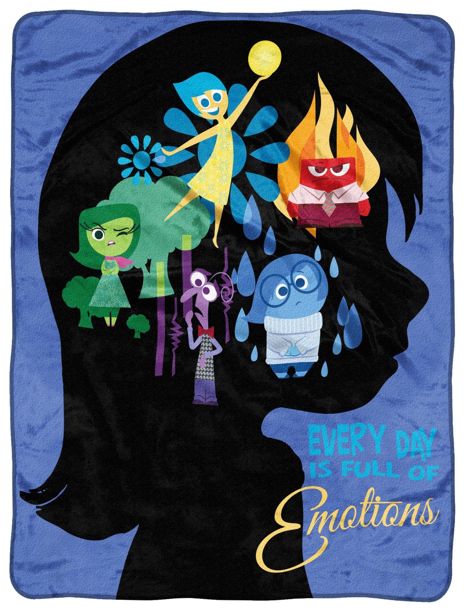 Disney-Pixar's Inside Out, ''Everyday Poster'' Micro Raschel Throw Blanket, 46'' x 60'', Multi Color