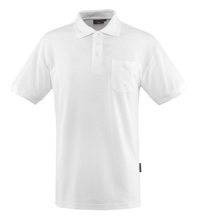 4X-Large White Mascot 00783-260-06-4XL Borneo Polo Shirt