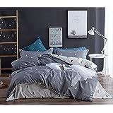 Topmail Copripiumino matrimoniale king 230x220cm con 2 federa 50x75cm set 3 pezzi biancheria da letto in cotone 200TC