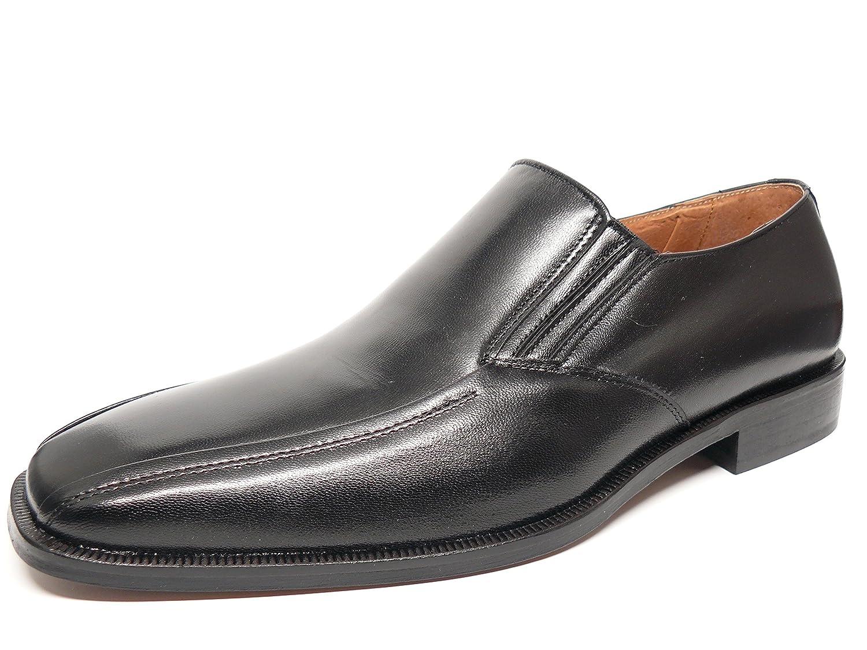 Zapato hombre mocasin vestir en piel de cabra negro marca DONATTELLI 9408 - 3: Amazon.es: Zapatos y complementos