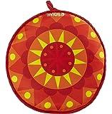 IMUSA USA MEXI-10007 Sunburst Cloth Tortilla Warmer 12-Inch, Yellow/Red/Orange
