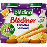 Blédina - Pots Blédîner Carottes semoule dès 6 mois 2x200g