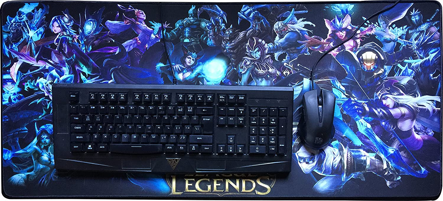 Large Gaming Mouse pad League of Legend 32 x 11 x 0.1 inches D2