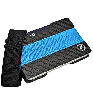 credit card holder with rfid blocking carbon fibre minimal slim wallet money clip and - Card Holder