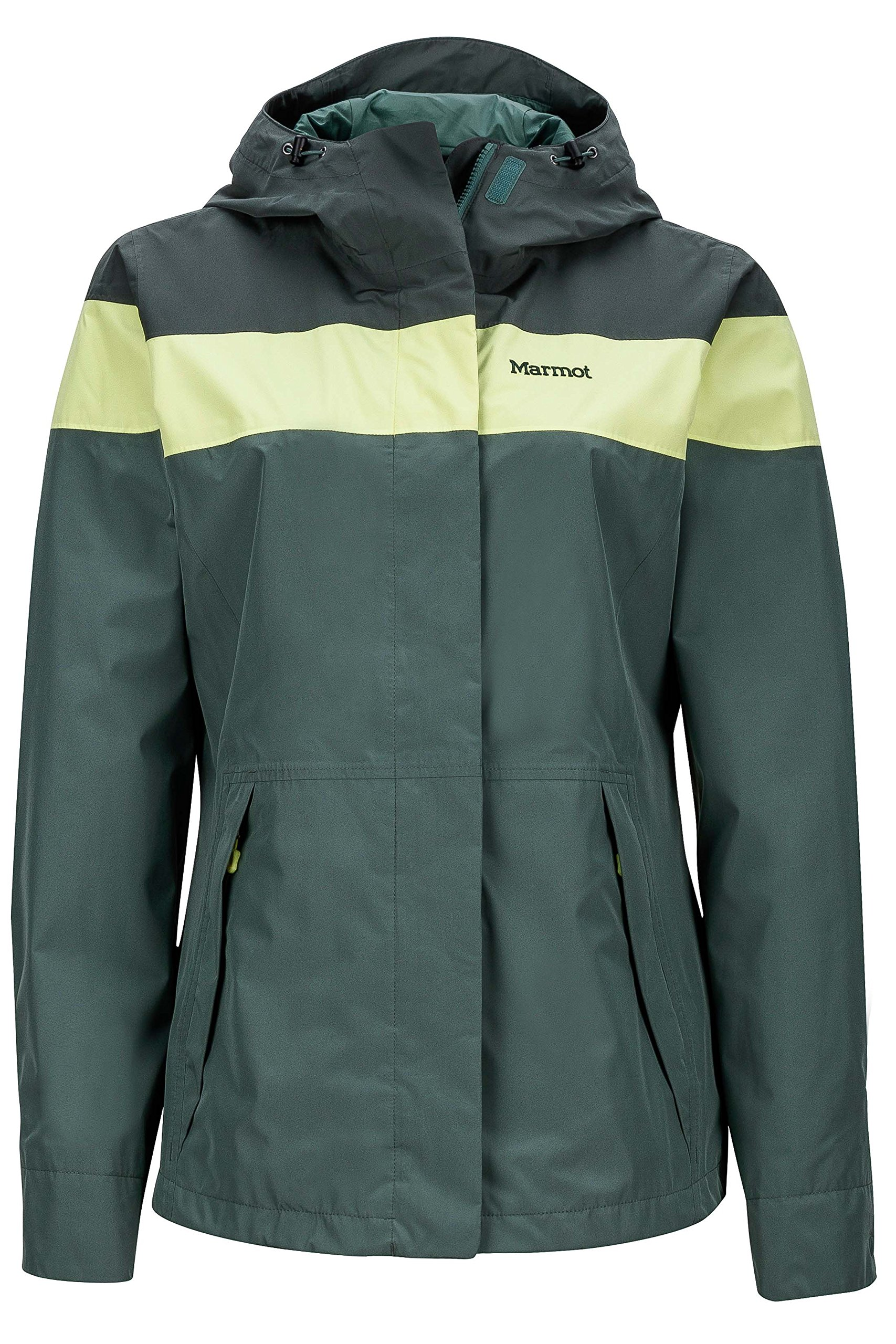 Marmot Roam Women's Lightweight Waterproof Hooded Rain Jacket, Urban Army/Dark Zinc, Medium by Marmot (Image #1)