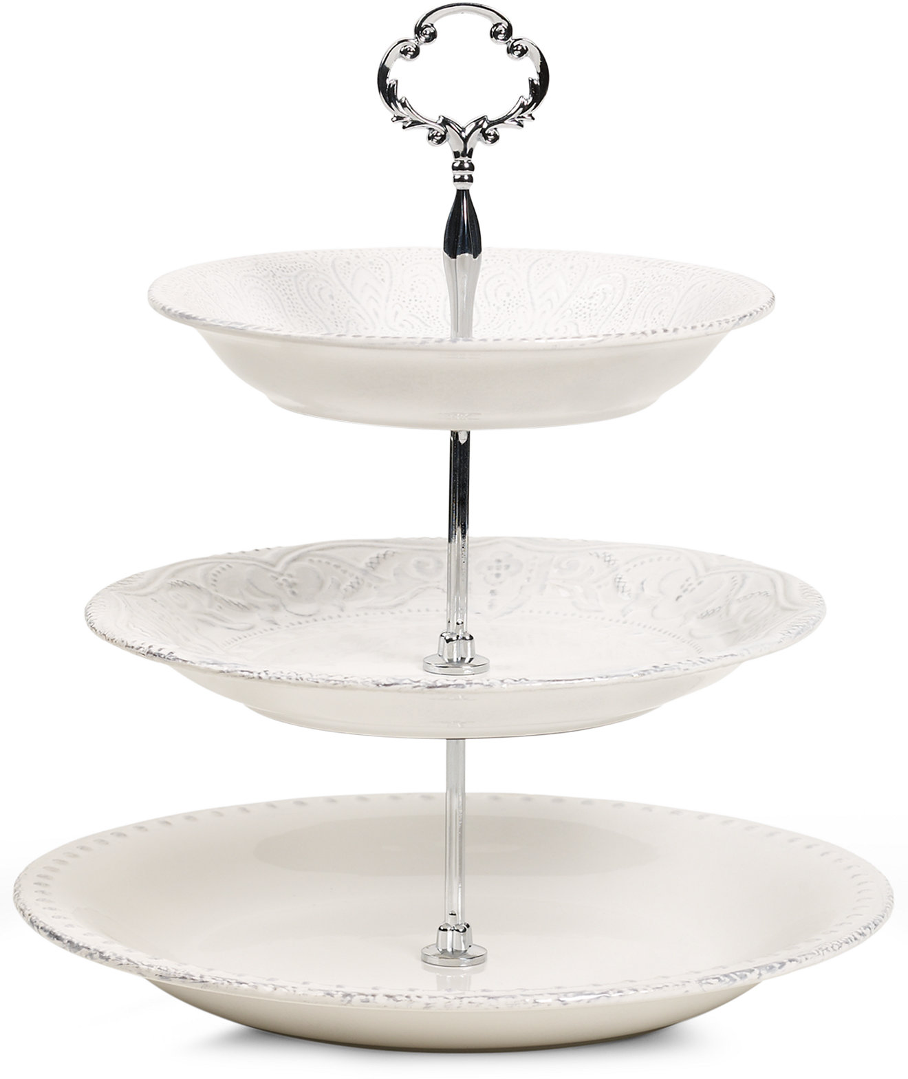 Maison Versailles Blanc 3 Tiered Server - Serveware - Dining & Entertaining - Macy's