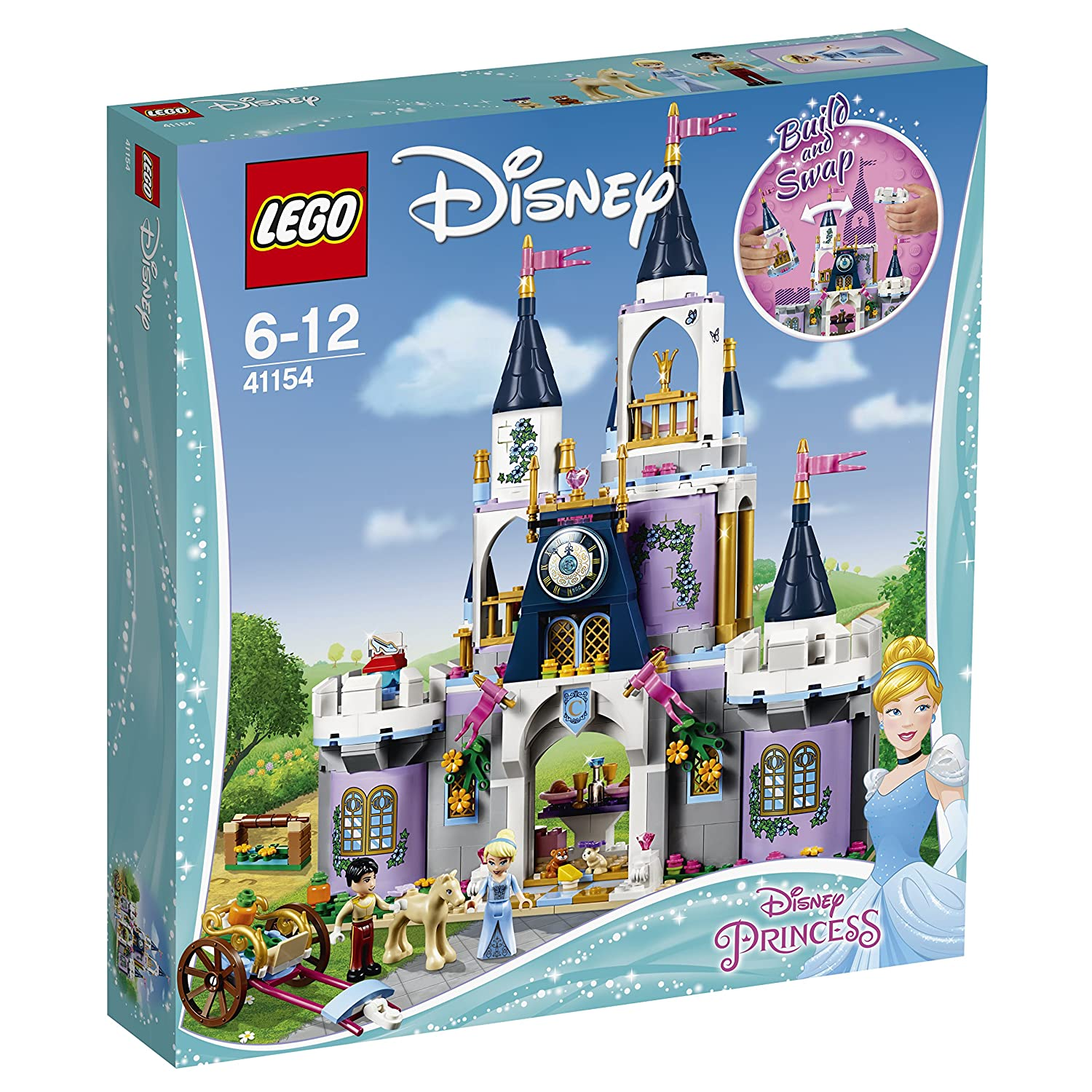 LEGO 41154 Disney Princess Cinderella/'s Dream Castle Toy Prince and Cinderella Figures Building Set for Kids