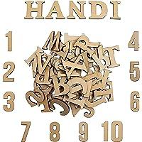 Letras de Madera y Números de Madera (124