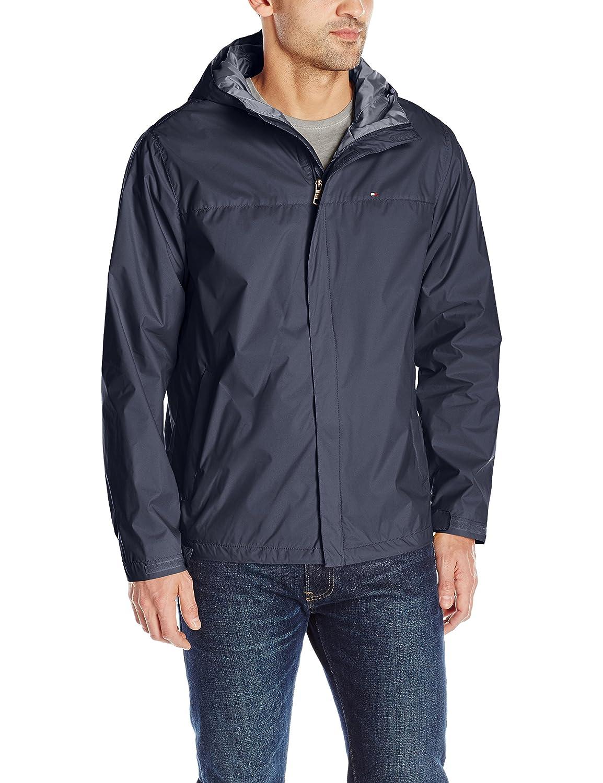 Tommy Hilfiger男性用防水性通気性フード付きジャケット カラー: ホワイト B00YQAG1E4 Medium|ネイビー ネイビー Medium